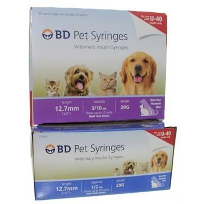 BD U-40 Pet Syringes
