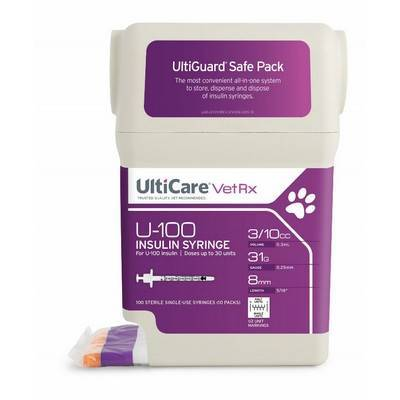 U-100 Insulin Syringes: For Diabetic Cats and Dogs - VetRxDirect