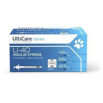 UltiCare VetRx U-40 Insulin Syringes