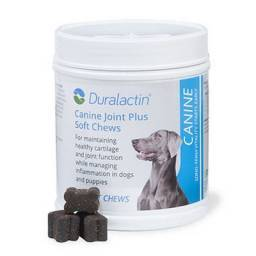 Duralactin Canine Joint Plus Soft Chews Helps Maintain Healthy Cartilage and Joint Function While Managing Inflammation.