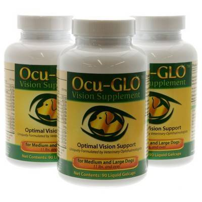 Ocu-GLO for Medium to Large Dogs, 90 Gelcaps, 3 Bottles