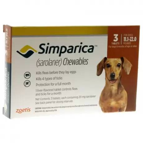 Simparica Chewables for Dogs 11.1 - 22 lbs, 3 Month Supply