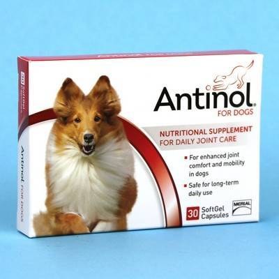 Antinol for Dogs 30 Softgel Caps for Daily Joint Care