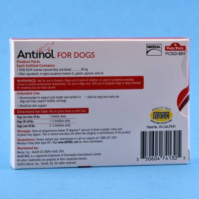 Antinol - for Dogs, 30 SoftGel Capsules Directions for Use