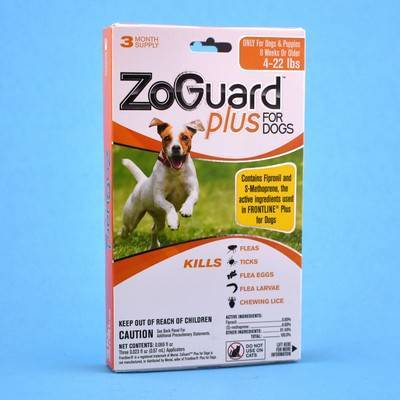 ZoGuard Plus for Dogs - 4-22lbs, 3 Month Supply