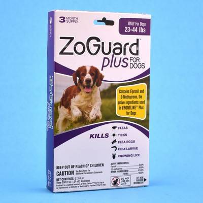 ZoGuard Plus for Dogs - 23-44lbs, 3 Month Supply