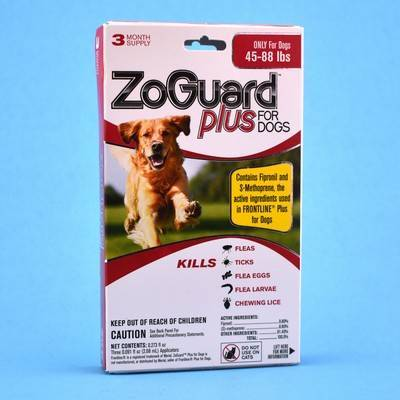 ZoGuard Plus for Dogs - 45-88lbs, 3 Month Supply
