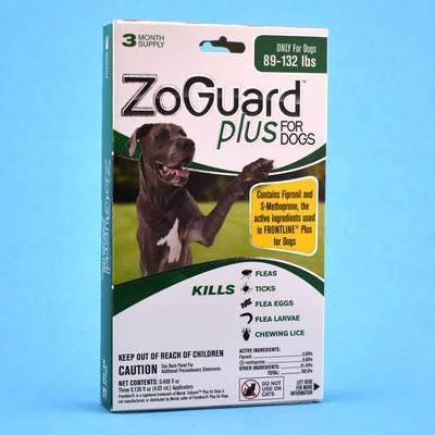 ZoGuard Plus for Dogs - 89-132lbs, 3 Month Supply