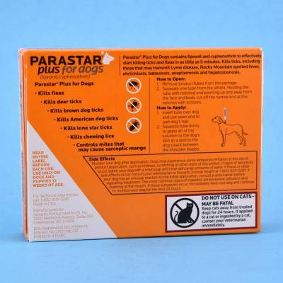 Parastar Plus for Dogs Kills Fleas and Ticks Label