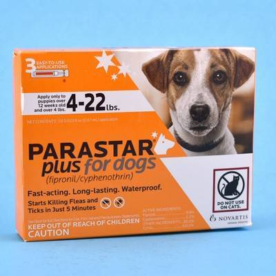 Parastar Plus for Dogs - 4-22 lbs, 3 Month Supply