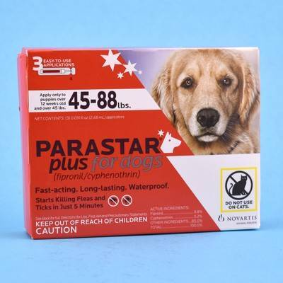 Parastar Plus for Dogs - 45-88 lbs, 3 Month Supply