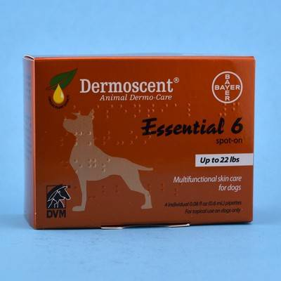 Dermoscent - Essential 6 Spot-On for Small Dogs 0-22 Pounds, 4 Tubes