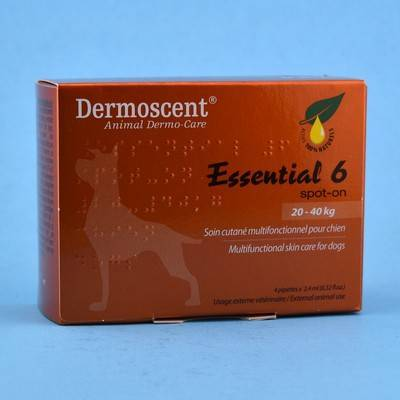 Dermoscent - Essential 6 Spot-On for Large Dogs, 45-90 Pounds, 4 Tubes