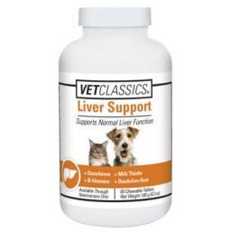 Vet Classics Liver Support for Dogs and Cats - 60 Chewable Tablets