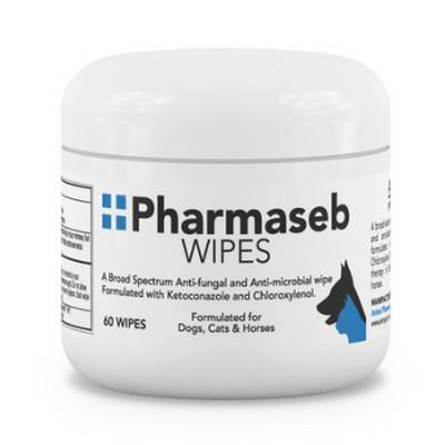 Pharmaseb - 60 Wipes for Dogs and Cats