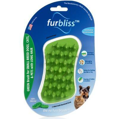 Furbliss - Green Brush for Small Cats and Dogs with Long Hair