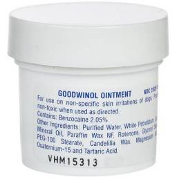 Goodwinol Ointment is an ointment for the treatment of demodectic and follicular mange of dogs.
