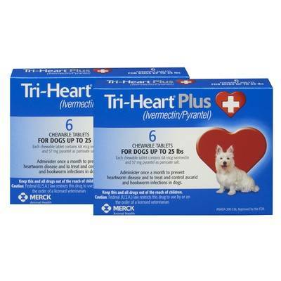 Tri-Heart Plus Chewable Tablets for Dogs - Up to 25 lbs, 12 Month Supply