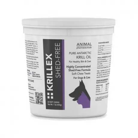 Krillex - Shed-Free for Dogs and Cats, 60 Soft Chews, 1lb