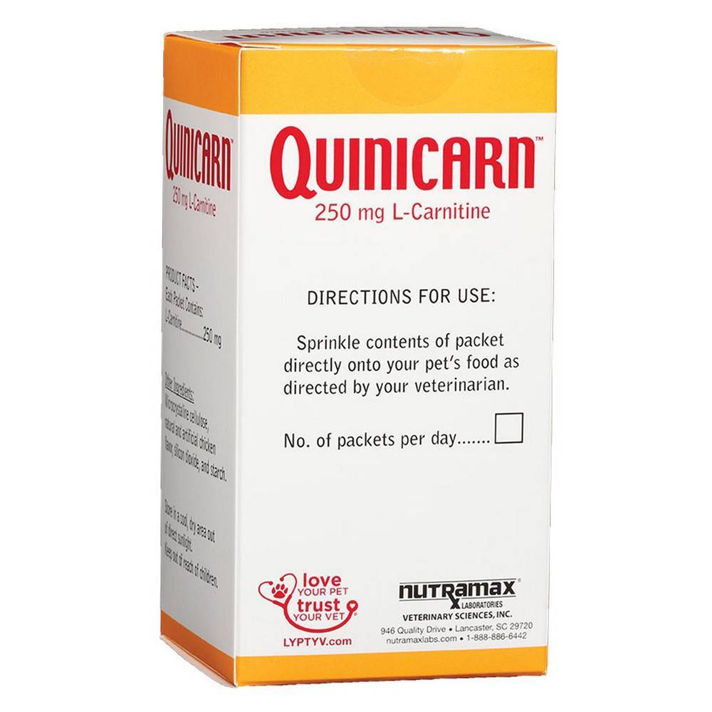 Quinicarn For Dogs And Cats L Carnitine Directions Use