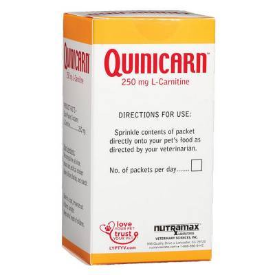Quinicarn for Dogs and Cats (L-Carnitine) Directions for Use