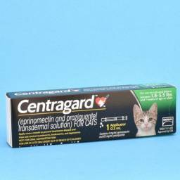 Centragard Transdermal Heartworm preventative for Cats - 1.8-5.5 lbs, 1 Month Supply