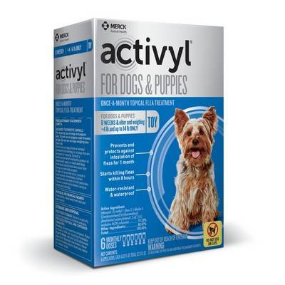 Activyl for Dogs - Over 4-14 lbs, 6 Month Supply