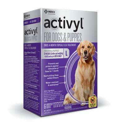 Activyl for Dogs - Over 44 - 88 lbs, 6 Month Supply