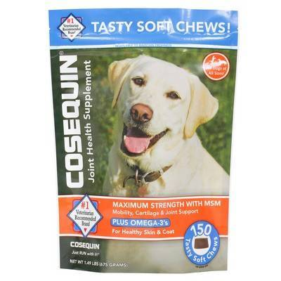 Cosequin Soft Chews MSM Plus Omega-3s for Dogs - 150ct