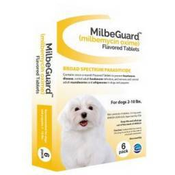 MilbeGuard Heartworm Flavored Tablets - for Dogs 2-10 lbs, 6 Month Supply
