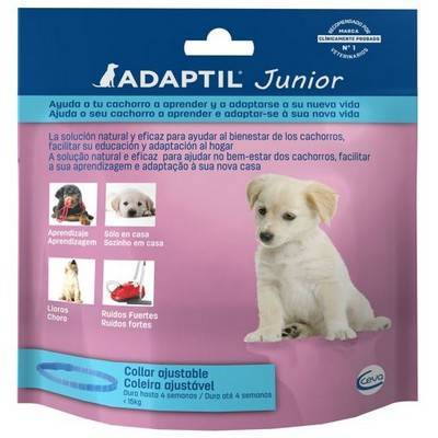 Adaptil Junior helps puppies learn and adapt to new home.