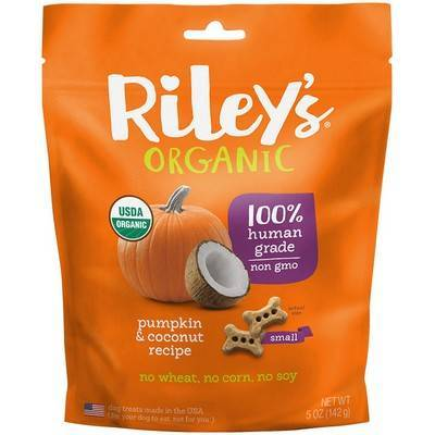 Riley's Organic Dog Treats - Small, Pumpkin and Coconut
