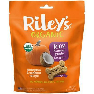 Riley's Organic Dog Treats - Large, Pumpkin and Coconut