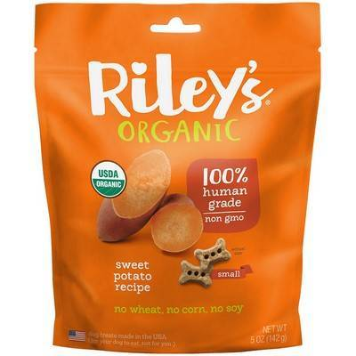 Riley's Organic Dog Treats - Small, Sweet Potato