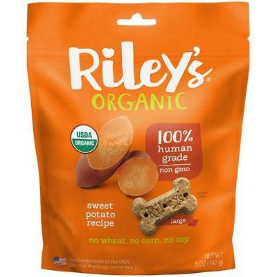 Riley's Organic Dog Treats - Large, Sweet Potato