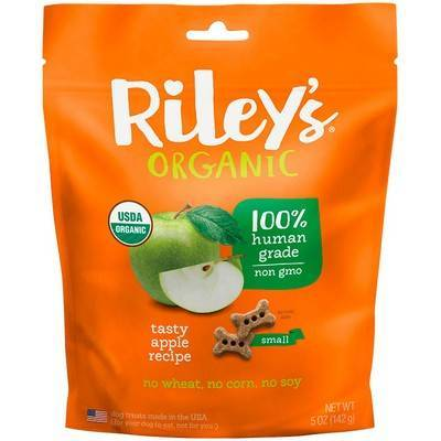Riley's Organic Dog Treats - Small, Tasty Apple