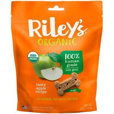 Riley's Organic Dog Treats - Large, Tasty Apple