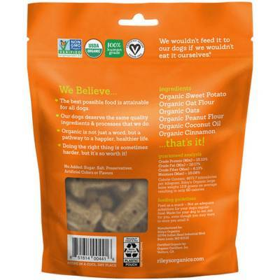 Riley's Organic Dog Treats - Large, Sweet Potato Ingredients