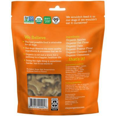 Riley's Organic Dog Treats - Small, Tasty Apple Ingredients