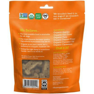 Riley's Organic Dog Treats - Large, Tasty Apple Ingredients