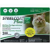 Steelcoat Plus for Cats Kills Fleas and Ticks