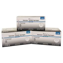 VetriJec U-40 Insulin Syringes for Cats and Dogs by VetOne
