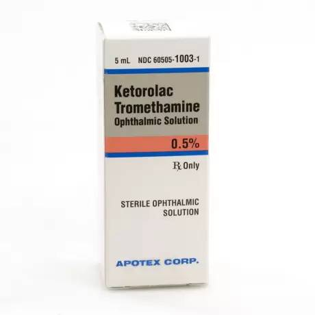 Ketorolac Tromethamine Eye Drops for Dogs and Cats - 0.5%, 5mL Dropper Bottle