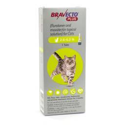 Bravecto Plus Topical Solution for Cats - 2.6-6.2lb, 1 Tube