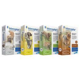 Interceptor Flavor Tabs for Dogs and Cats Heartworm Preventative