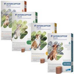 Interceptor Plus Chewables for Dogs Broad-Spectrum Parasite Protection