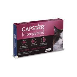 Capstar - 11.4mg for Cats 2-25 lbs, 6 Tablets nitenpyram Kills Fleas in one dose