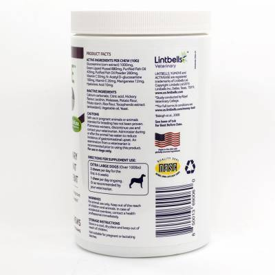 YuMove Advance 360 - for Extra Large Dogs over 100 lbs, 70 Soft Chews Ingredients and Directions
