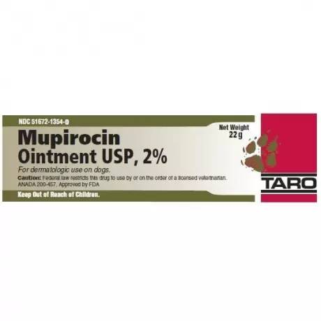 Mupirocin Topical Ointment for Dogs, 2% - Generic Vet Label, 22g Tube