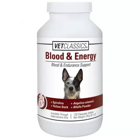 Blood and Energy Canine Endurance Support Chewable Tablets for Dogs Vet Classics